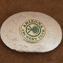 Arizona Archery Club Engraved Trophy Belt Buckle