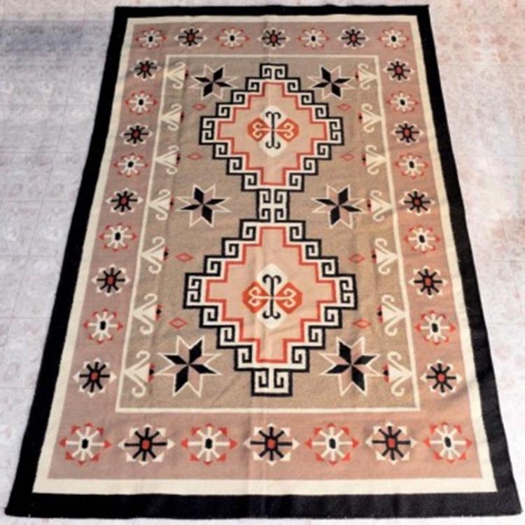 Southwest Large Wool Rug Navajo Style 1980's 6 X 10 Feet