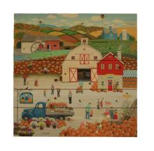 The Harvest Moon - By Wilfred Limvelancia Painting Print On Wood
