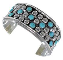 Sterling Silver Turquoise Southwestern Cuff Bracelet