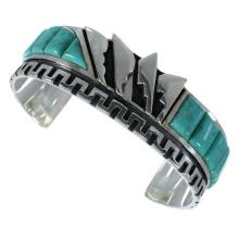Turquoise And Authentic Sterling Silver Jewelry Bracelet