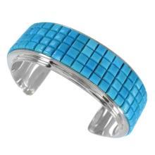 Silver Southwest Turquoise Cuff Bracelet