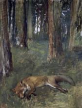 EDGAR DEGAS - DEAD FOX UNDER THE TREES