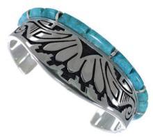 Turquoise Water Wave Southwest Jewelry Silver Cuff Bracelet