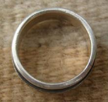 Mexican Greek Key Spinner Sterling Ring Band Sz 10