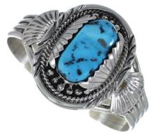 Native American Sleeping Beauty Turquoise Silver Bracelet