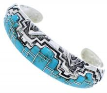 Sterling Silver Turquoise Jewelry Cuff Bracelet