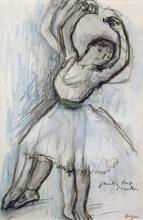 EDGAR DEGAS - STUDY OF A DANCER