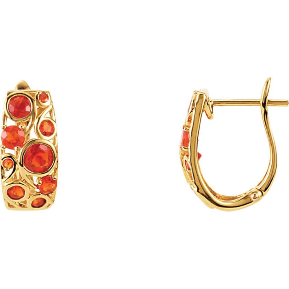 Cabachon Hinged Earrings
