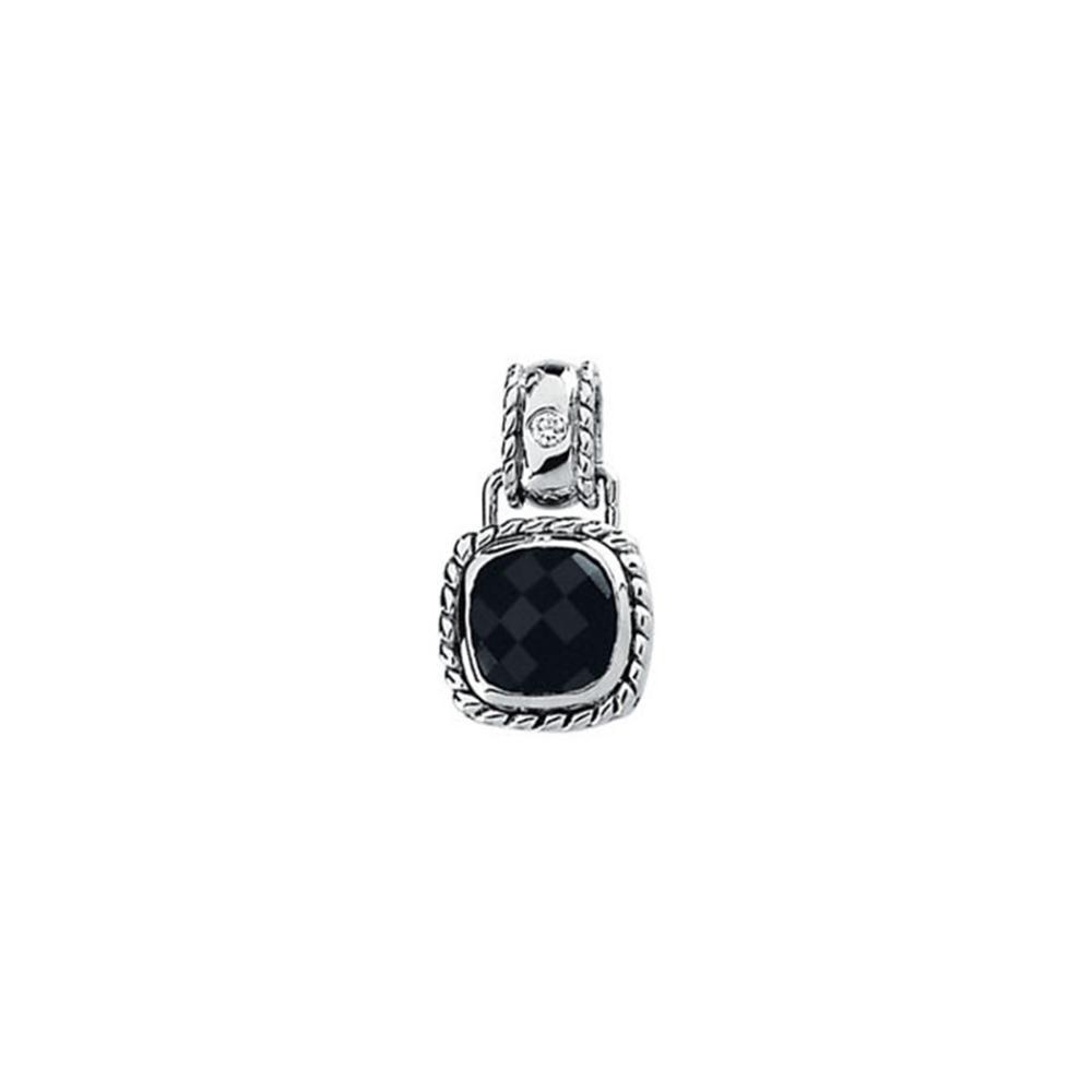 Onyx & Diamond Pendant