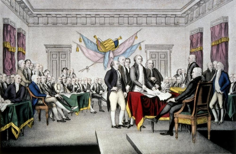 CURRIER AND IVES DECLARATION OF INDEPENDENCE