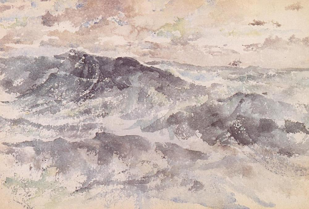 JAMES MCNEILL WHISTLER ARRANGEMENT IN BLUE AND SILVER THE GREAT SEA 1885