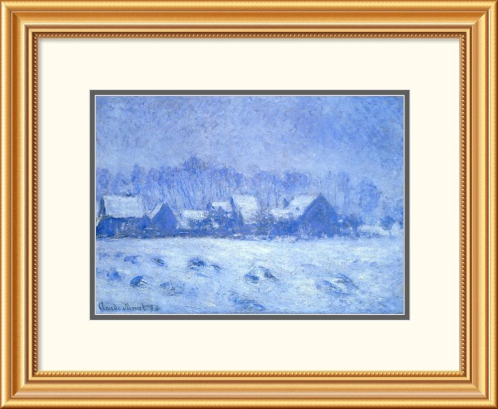Claude Monet - Snow Effect At Giverny 1893