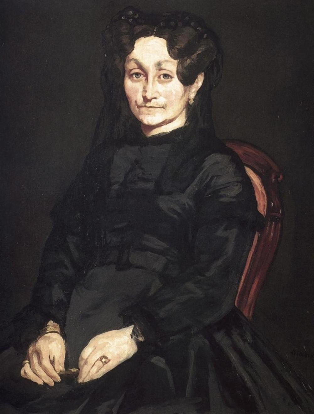 EDOUARD MANET MME AUGUSTE