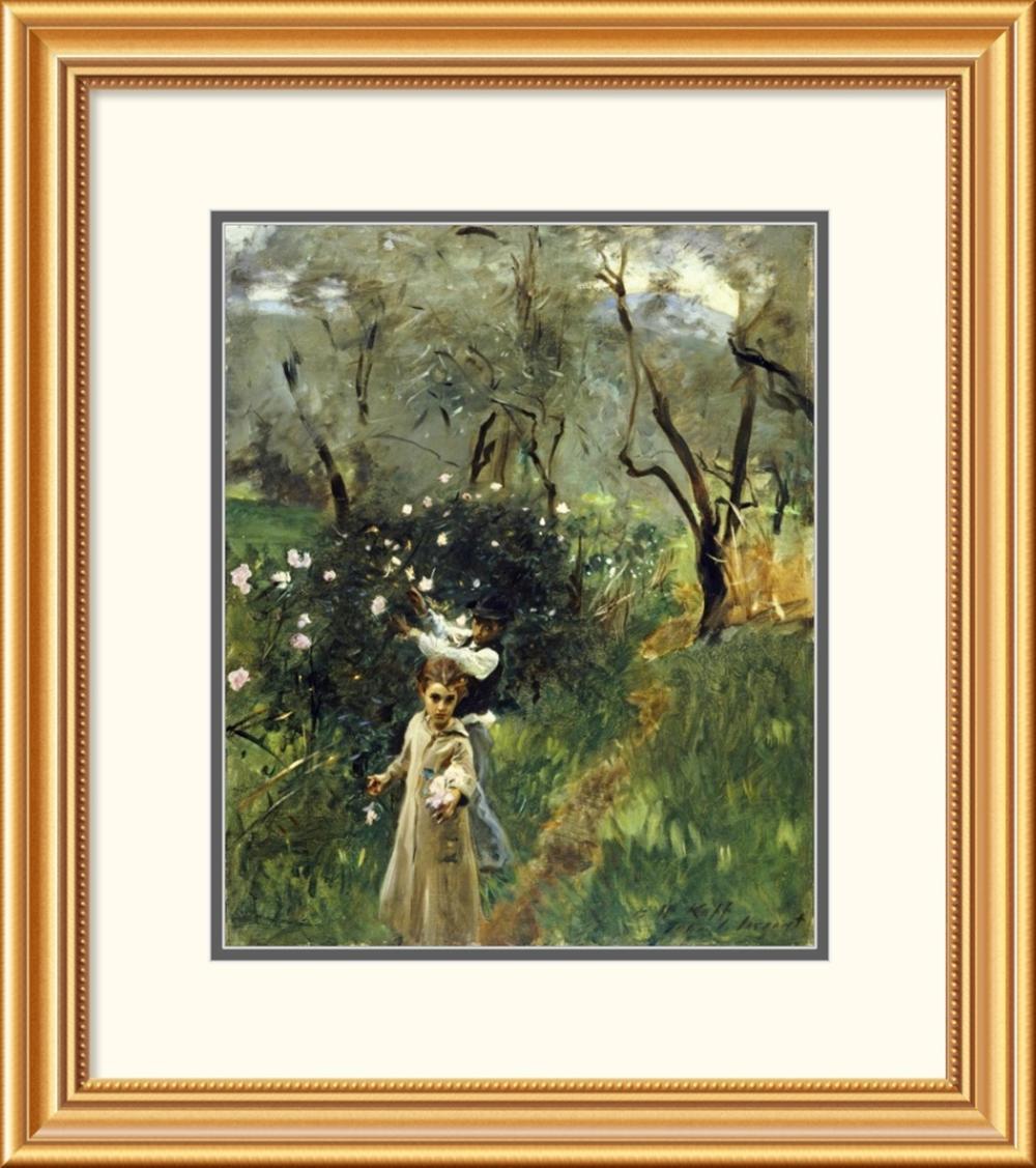 John Singer Sargent - Gathering Flowers at Twilight