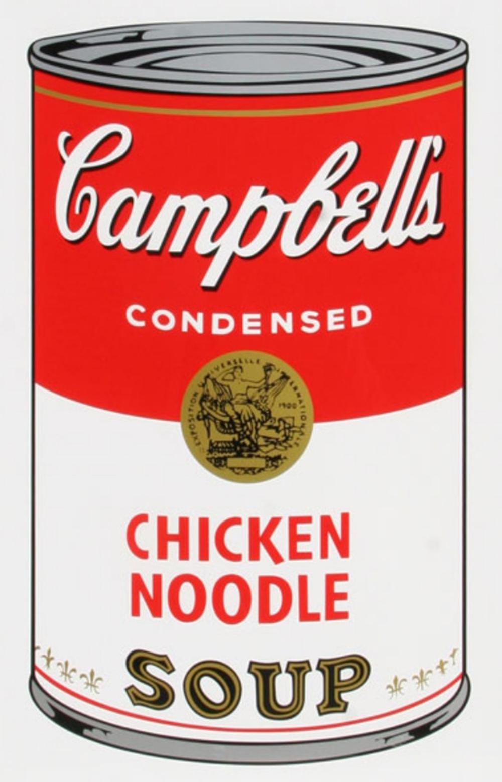 ANDY WARHOL CHICKEN NOODLE SOUP CAN
