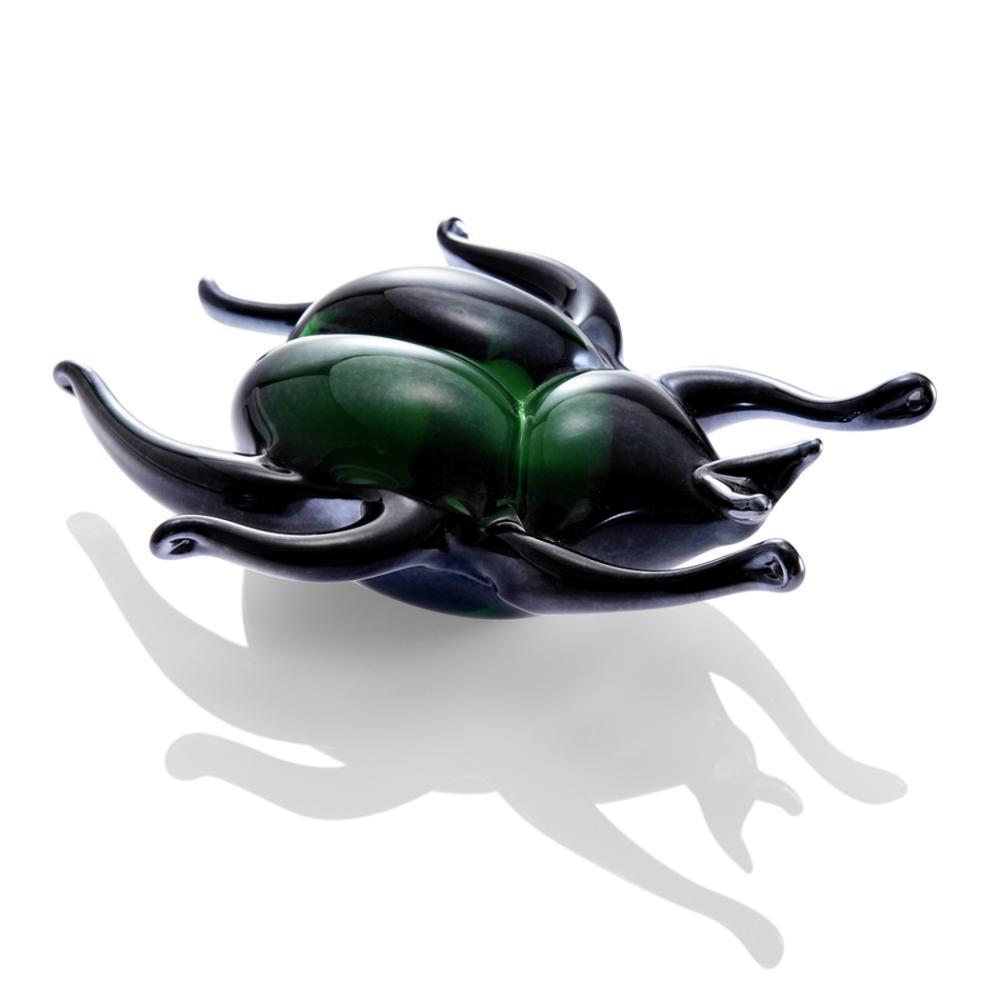 Art Glass Iridescent Beetle