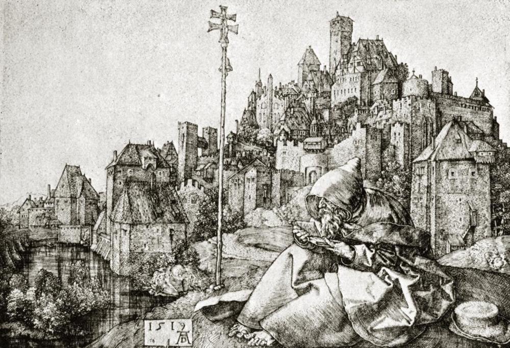 ALBRECHT DURER ST ANTHONY AT THE CITY