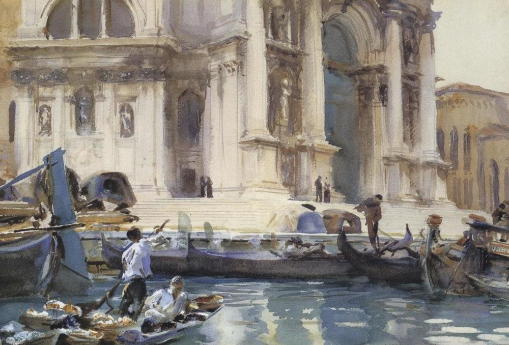 JOHN SINGER SARGENT ON THE STEPS OF THE SALUTE, 1906