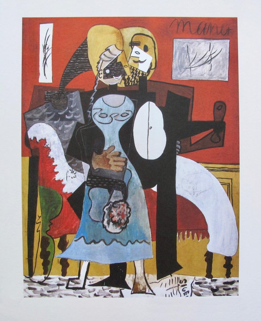 Pablo  Picasso Dancing Couple