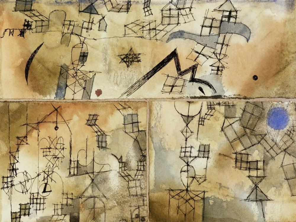 PAUL KLEE THREE-PART COMPOSITION