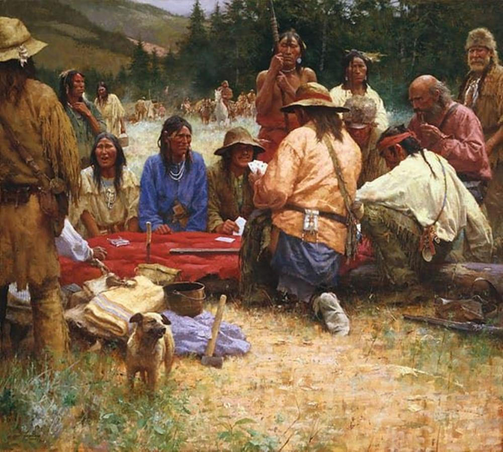 Howard Terpning - A Friendly Game at Rendezvous 1832