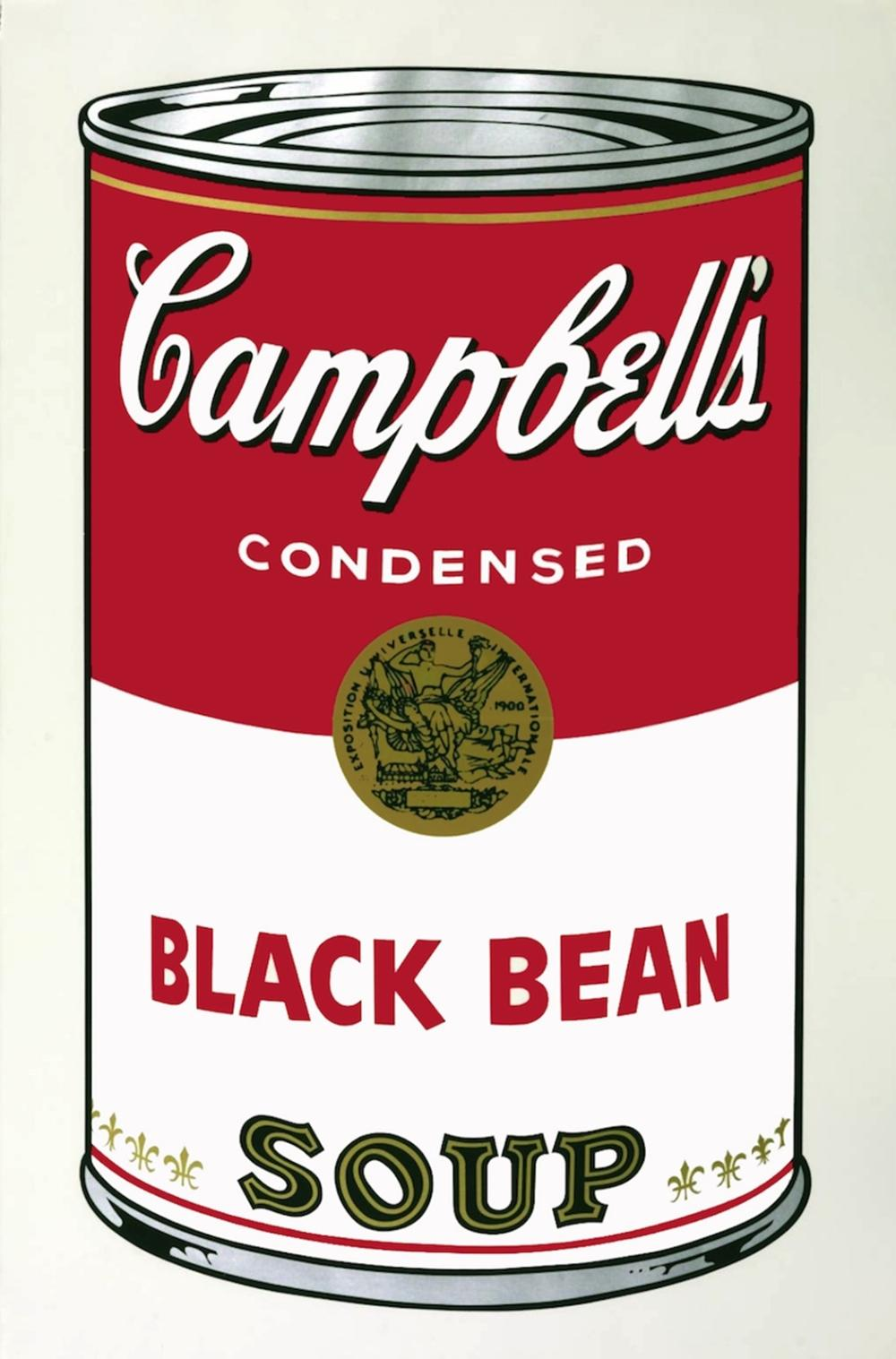 ANDY WARHOL BLACK BEAN SOUP CAN