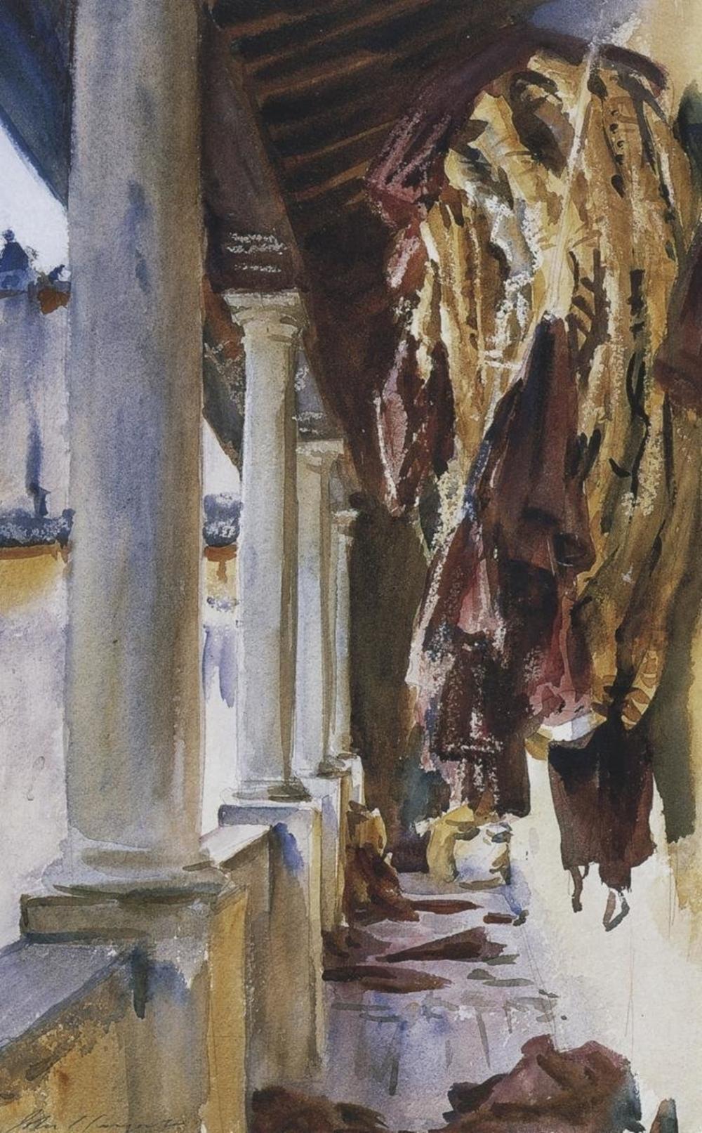 JOHN SINGER SARGENT TORRE GALLI WINE BAGS, 1910