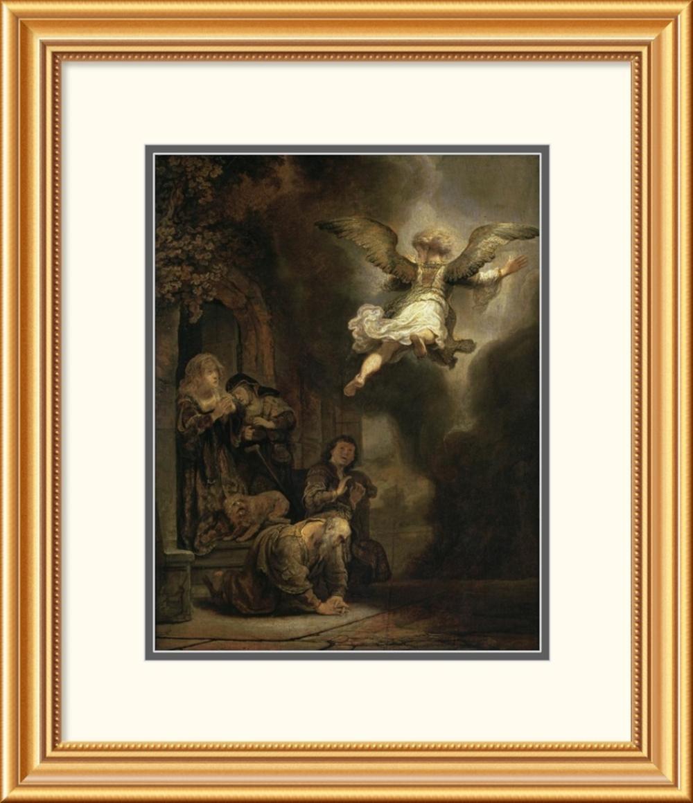 Rembrandt Van Rijn - Archangel Raphael Leaving the Family of Tobias