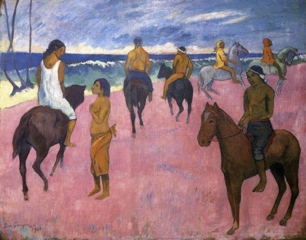 Riders on the Beach Kid/'s Running Shoes Paul Gauguin