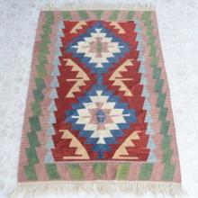 Southwestern Style Wool Rug Flat Woven Carpet 69