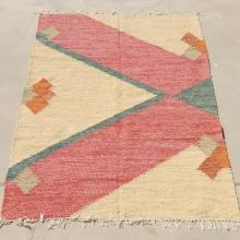 Indian Handmade Cotton Rug Tribal Pattern 5 x 8 Feet