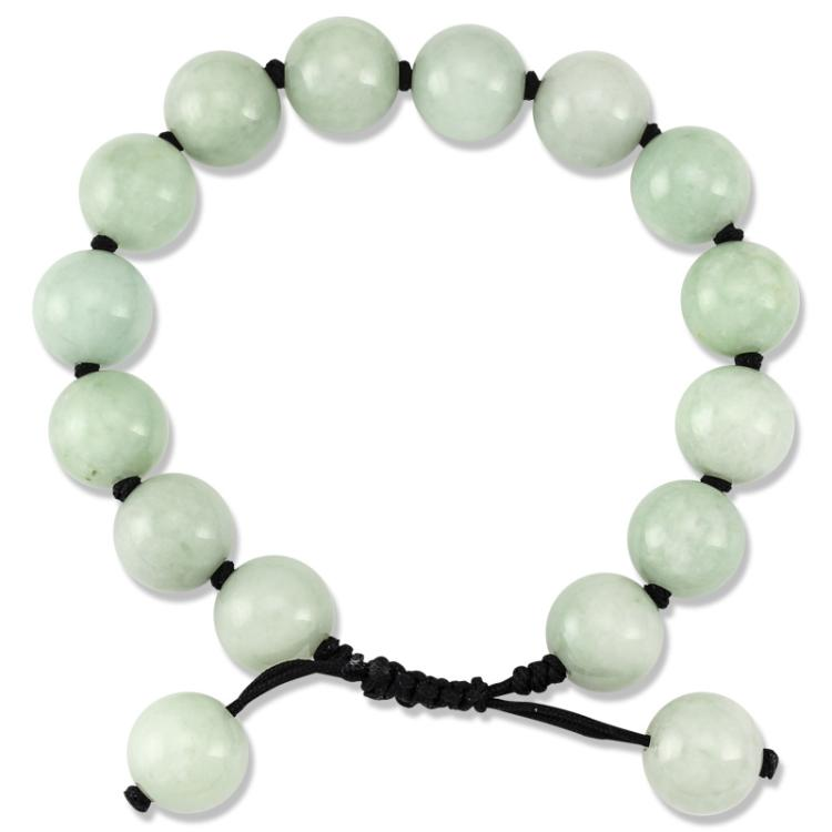 Untreated Natural Green Jade Bracelet