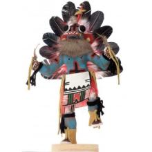 Blue Ahote Kachina Doll Navajo Indian Carved Painted