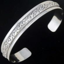 Silver Hand Made Cuff Bracelet Sterling