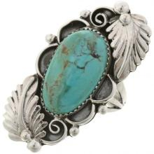 Native American Turquoise Pointer Ring Sterling Ladies Design