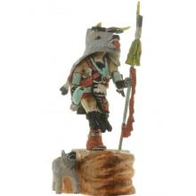 Hopi Wolf Kachina Doll By Native American Carver Milton Howard