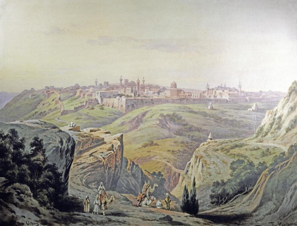 FRIEDRICH PERLBERG A VIEW OF JERUSALEM