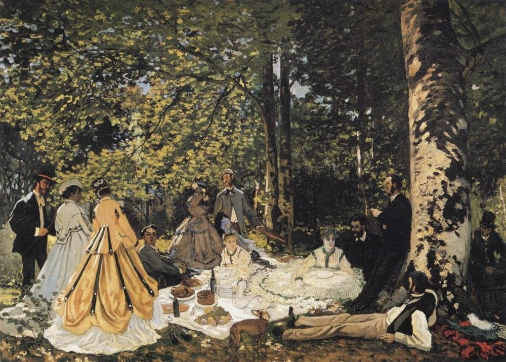 CLAUDE MONET STUDY FOR THE PICNIC LUNCH 1865