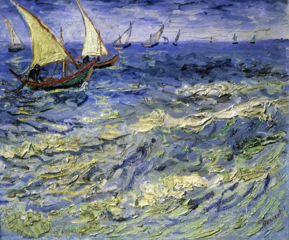 VINCENT VAN GOGH SEASCAPE AT SAINTES-MARIES-DE-LA-MER