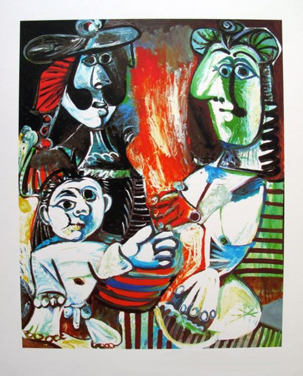 Pablo  Picasso Small Child With Two Women