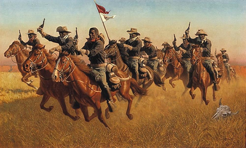 "Frank C. McCarthy - BUFFALO SOLDIERS: ""ADVANCE AS SKIRMISHERS CHARGE"