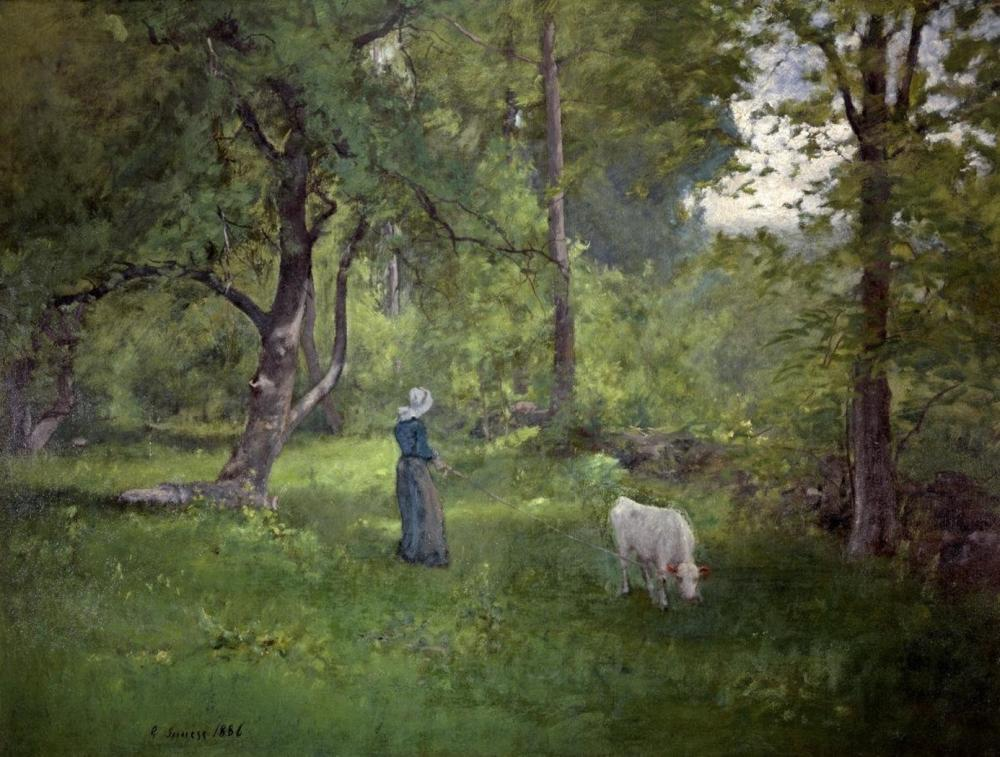 GEORGE INNESS TAKING A WALK