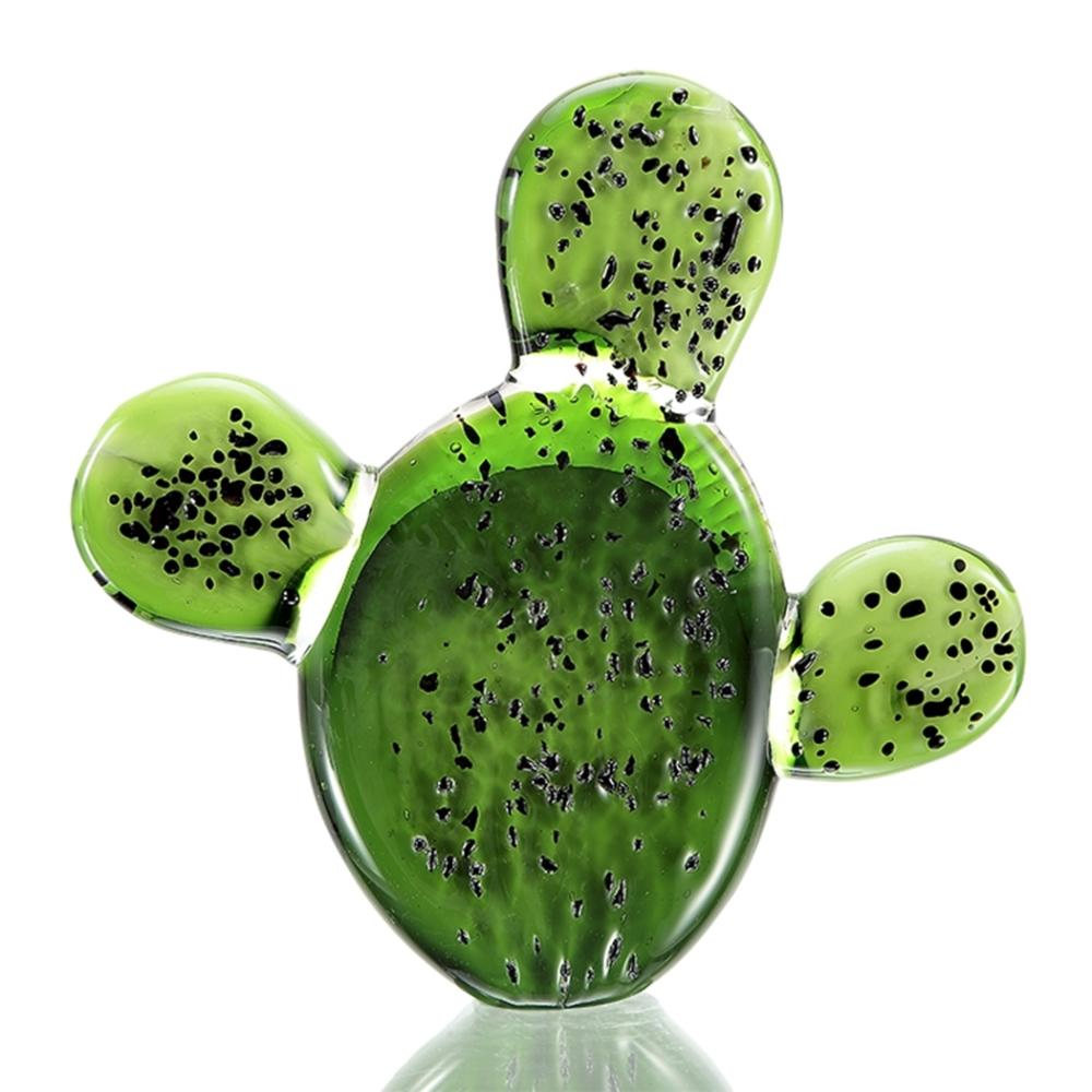 Art Glass Prickly Pair Cactus