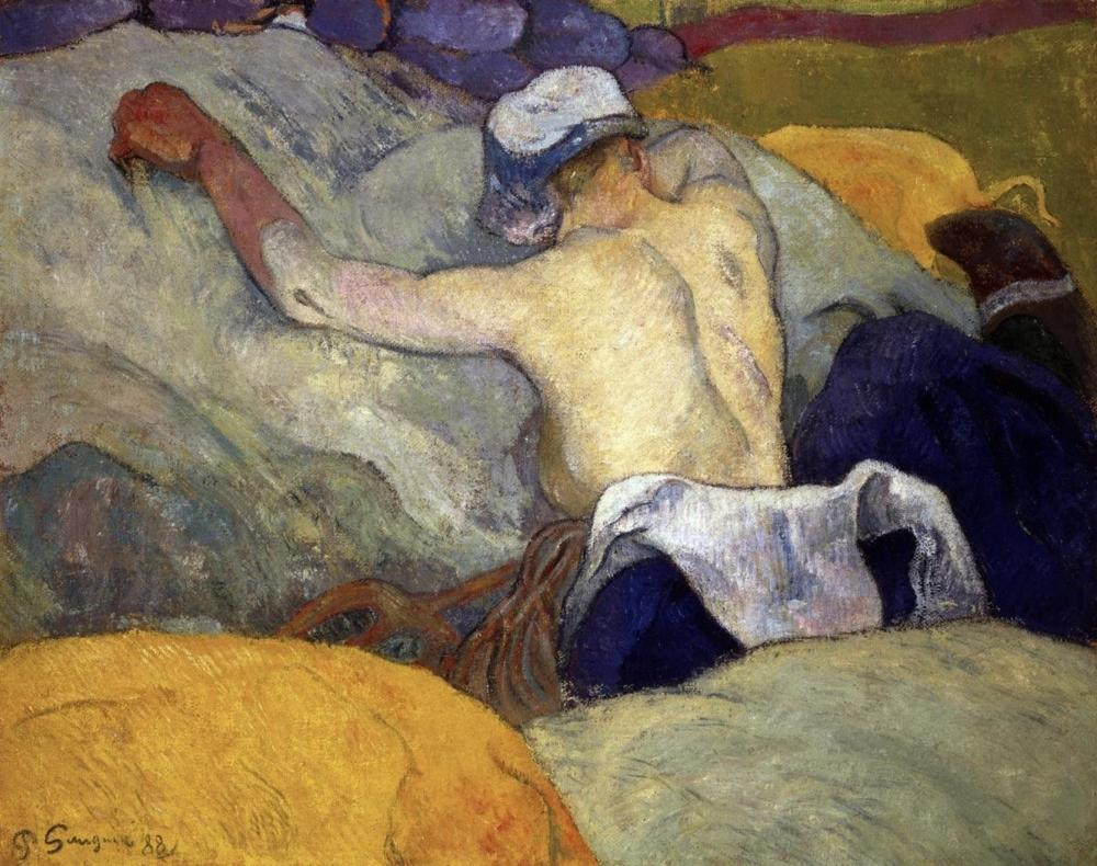 PAUL GAUGUIN WOMAN IN THE HAY (FEMME DANS LE FOIN)