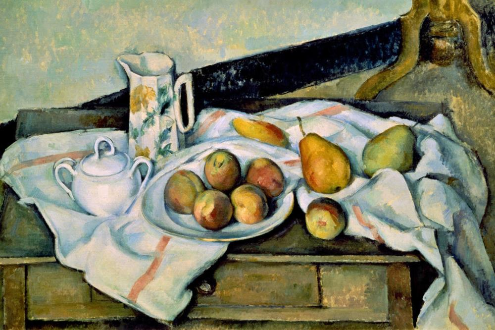 PAUL CEZANNE STILL LIFE OF PEACHES AND PEARS