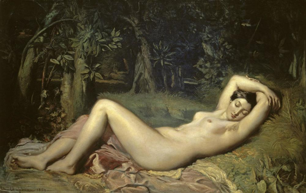 THEODORE CHASSERIAU SLEEPING NYMPH