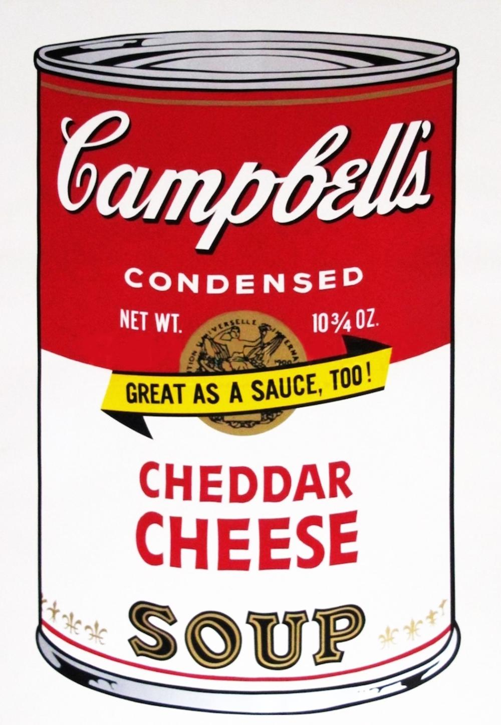 ANDY WARHOL CHEDER CHEESE CAN