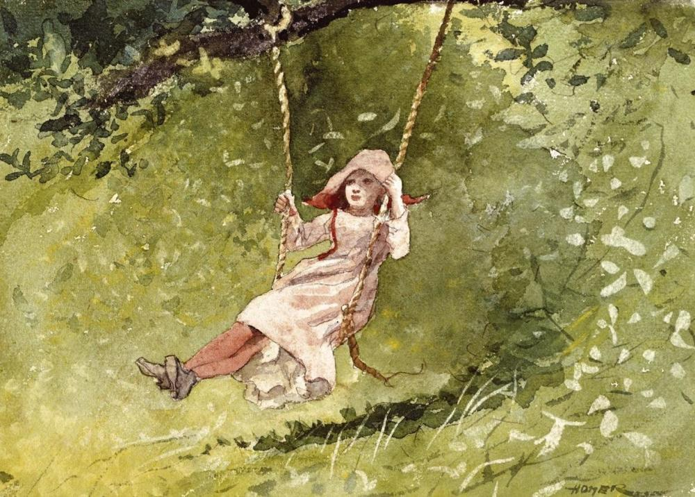 WINSLOW HOMER GIRL ON A SWING