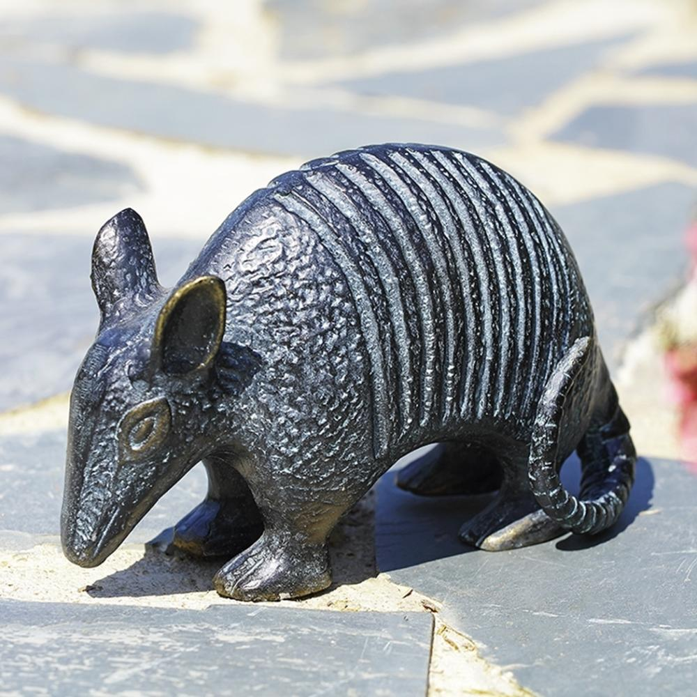 Lone Star Armadillo Garden Sculpture
